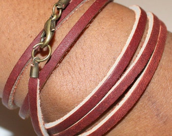 Leather Multi-Wrap Bracelet