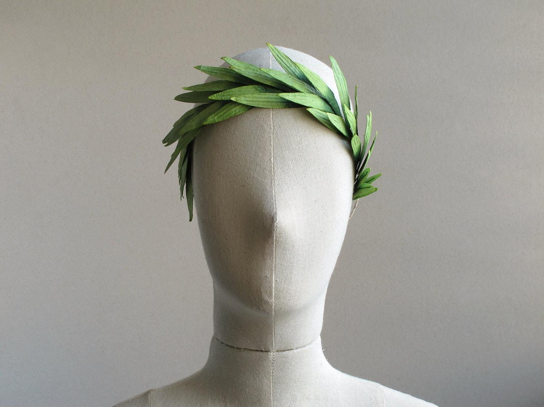 Shop Checkolite International 4 Light Ashfield Rustic: Paper Leaf Crown Light Green Rustic Headpiece Perfect For