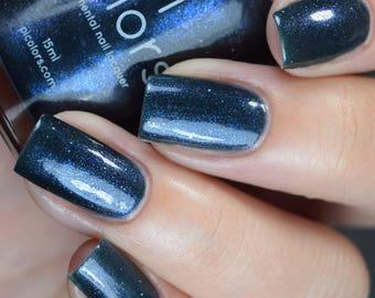 Midnight Bloom.022 Nail Polish Blue Black Shimmer