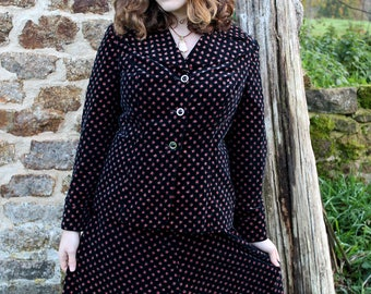 Vintage 1970s Melody Blazer and Skirt Suit Set
