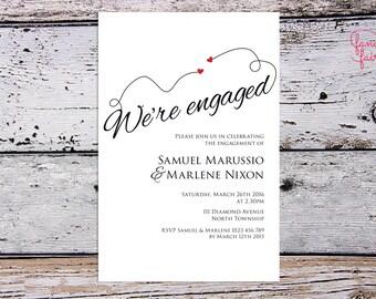 Engagement invitation - sweethearts