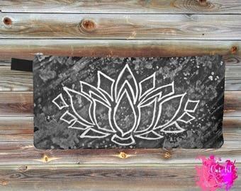 Case pencil, watercolor, black lotus flower