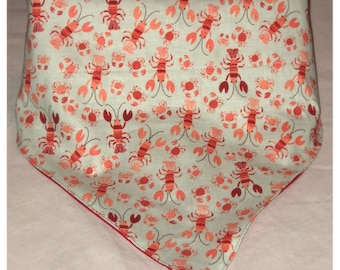 Crab Lobster Bandanna / Summer Bandanna / Crab Bandanna / Lobster Bandanna