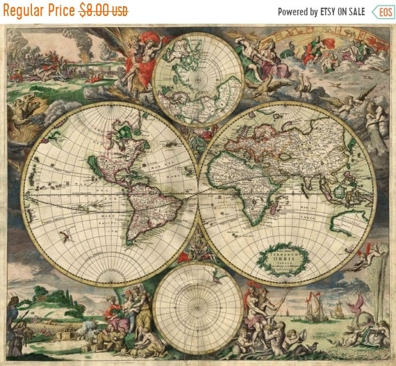 Old world map cross stitch pattern pdf 1689 gerard van schagen gumiabroncs Images