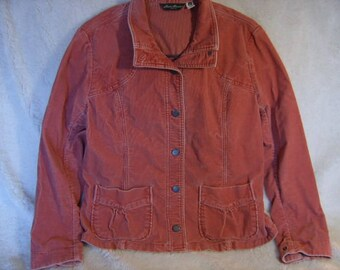 Vintage Eddie Bauer Corduroy,Salmon Color,Womens size XL