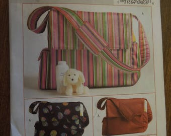 Butterick B4560, diaper bags, UNCUT sewing pattern, craft supplies