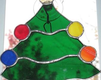 Christmas Stained Glass Suncatcher