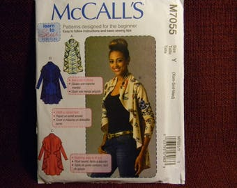 Uncut McCall's Pattern 7055 Easy Vest and Cardigans