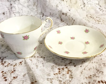 Regency Tea Cup and Saucer, English Bone China Cup. Tea Party, Antique Tea Cups and Saucers