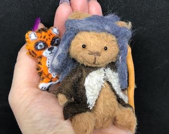 Tiny King Ezekiel - The Walking Dead Inspired Miniature Artist Bear (vegan)