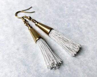 Tassel Earrings, brass tassel earrings, boho tassel earrings, boho earrings, bohemian earrings, dangle earrings, drop earrings, trending