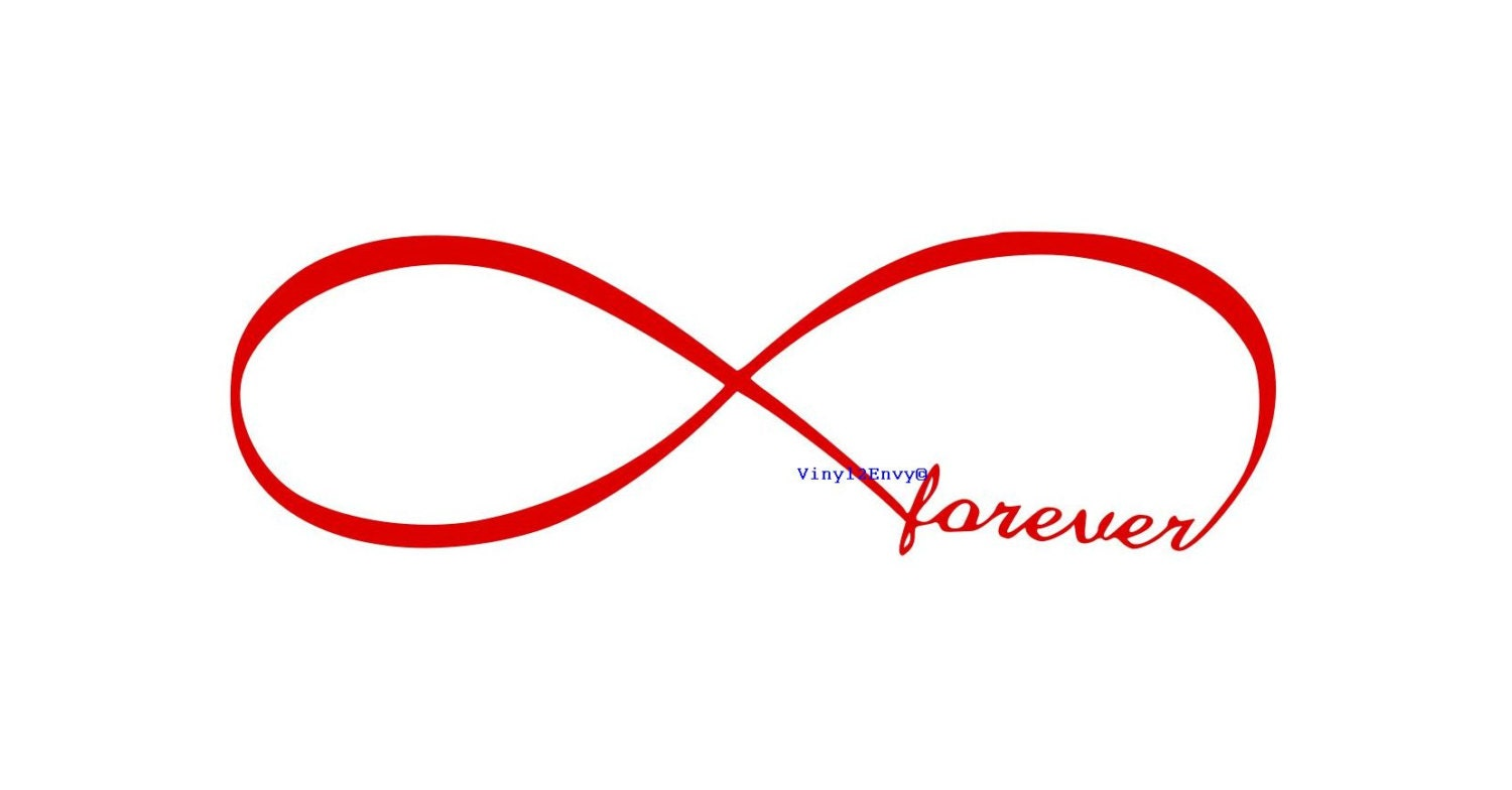 Forever infinity symbol wall decal vinyl wall decal wall zoom buycottarizona Image collections