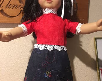 "18 "" doll Skirt and top"