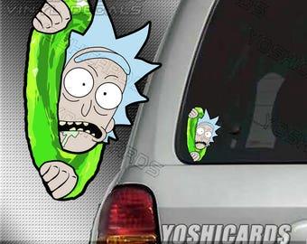 Rick Peeking Portal inspired Car Laptop vinyl Decal