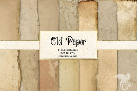 Old Paper Textures Vintage Antique Distressed Aged