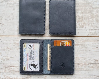 bifold wallet minimalist wallet slim wallet front pocket wallet mens leather wallet leather card holder personalized wallet for him