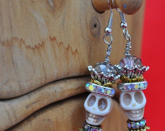Day of the Dead Earrings style #24
