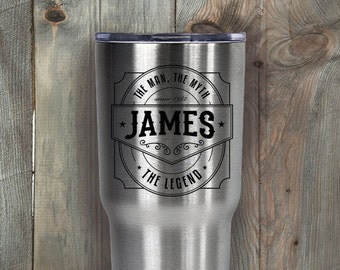 RTIC 30 oz Tumbler/Personalized/Double Wall Stainless Steel/Man/Myth/Legend/Name/Christmas Gift/Gifts for Him/Fast Shipping