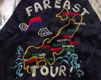 "Cropped Heads Reversible Sukajan Jacket ""FAR EAST TOUR"""