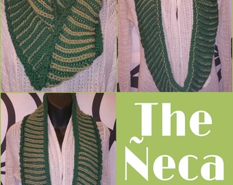 The ÑECA Cowl - Reversible Hand Knit Two-Toned Cowl