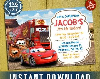 Disney cars birthday Etsy