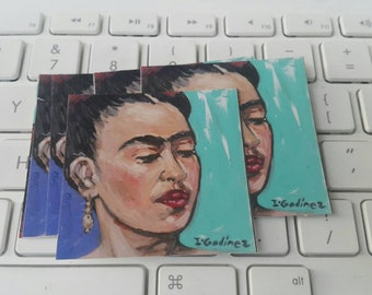 Frida Kahlo - mexican art - art sticker