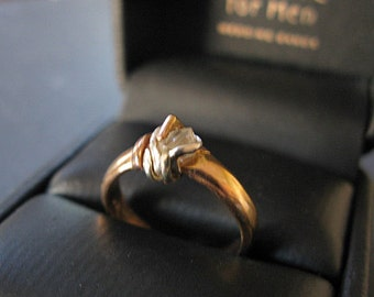 SALE Raw Diamond Ring Size 6 1/4 Uncut Diamond Ring Rough Diamond Ring Octahedron Unique Engagement Ring Rose Gold Ring Organic Artisan OOAK