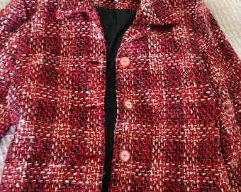 Red Checkered Clueless Coat