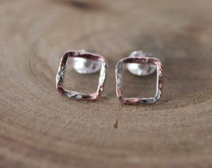 Featured listing image: Copper and Silver Splatter Studs
