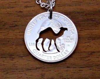 Camel Necklace, Keychain, Camel Pendant, Key Chain, Dromedary, Hump Day