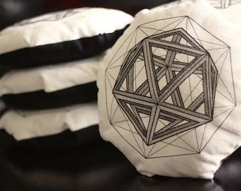 Geometric pillow decorative original geometry icosahedron