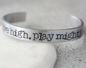 Inspiration, training bracelet, gym accesories, field hockey gift, sport gift, field hockey bracelet, field hockey jewellery, go hard or go