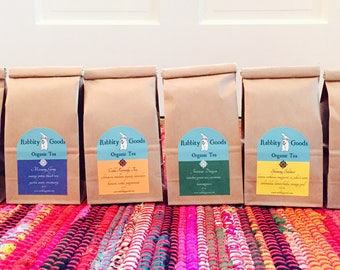 Tea of the Month, 1 Year Subscription, Organic Tea, Tea Gift, Loose Leaf Tea, Herbal Tea, Birthday Gift, Holiday Gift, Anniversary Gift,Gift