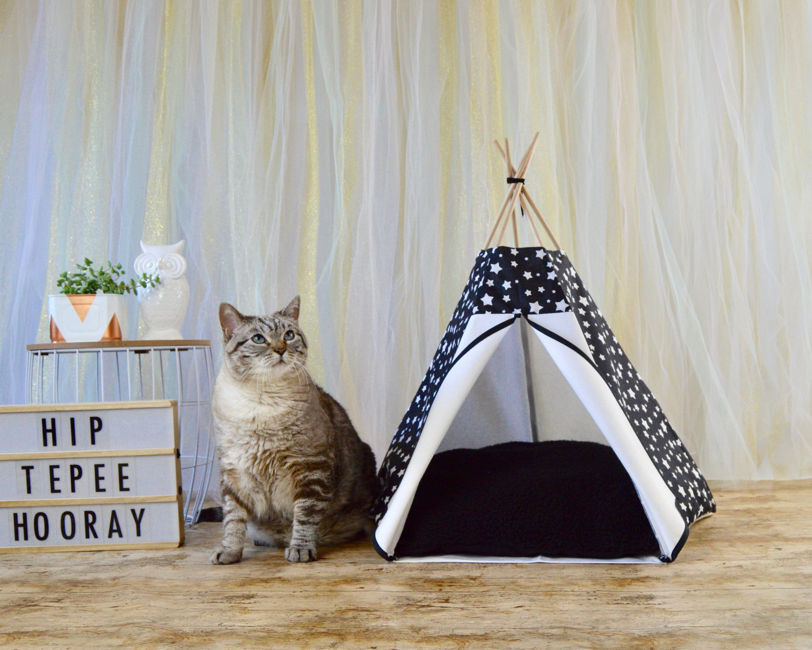 tipi chat tipi pour chat chat teepee tipi chien tente. Black Bedroom Furniture Sets. Home Design Ideas