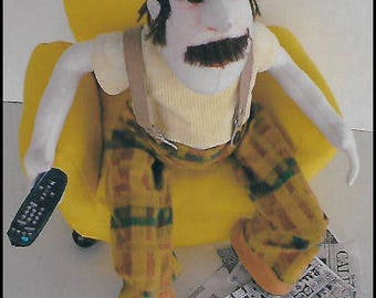 KK775E – Clicky Dick - Male Cloth Doll Making Sewing Pattern, PDF Download