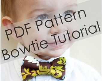 Boy Bow Tie Pattern - PDF Pattern - Tutorial - Sizes NB - 9 years