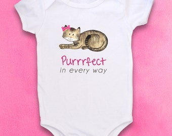 Cute baby bodysuit, Unique baby clothes, Baby one piece, Cat bodysuit, Hipster baby, Funny Baby clothes, Kitty cat