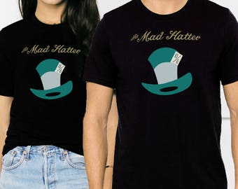 The Mad Hatter - Unisex T-Shirt - Black or White Tee