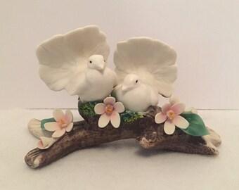 SALE - Capodimonte Porcelain Doves