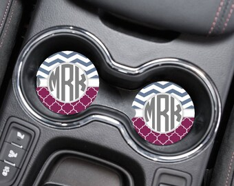 Car Coaster, Personalized Coaster, Anniversary Gift, Monogram Coasters, Wedding Gift, Monogrammed Gifts