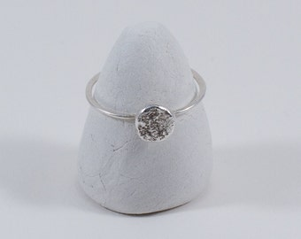 Sterling silver droplet stacking ring, Captain Peter jewellery