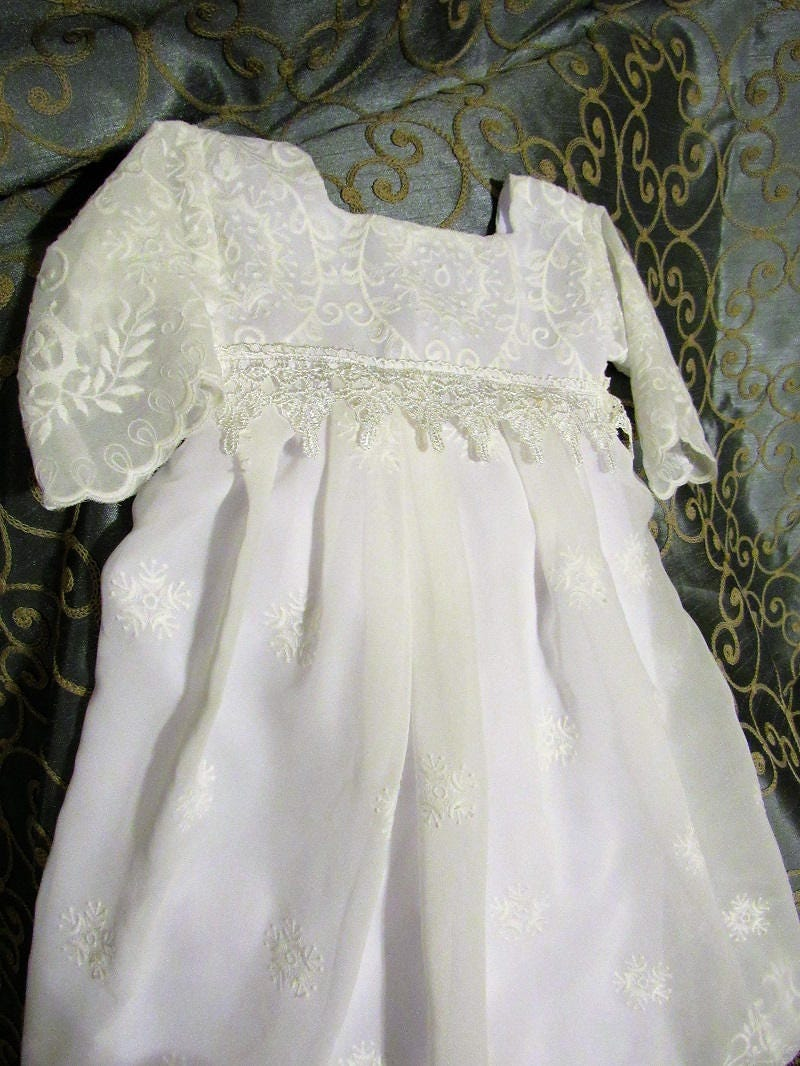Christening dress baptism gown baby christening dress