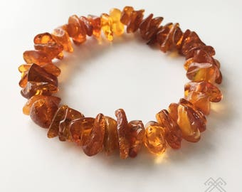 Baltic Amber bracelet - Baltic Amber beads - Beaded bracelet - Amber bracelet - Womens bracelet