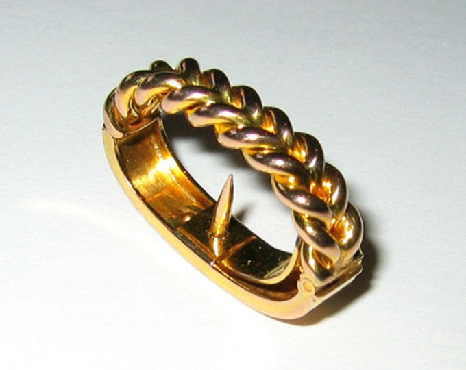 """Vintage: 9ct Solid Yellow Gold... """"Braided Design""""......Scarf Clip !"""