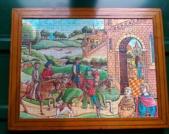 Superior A Vintage Wooden Framed Jigsaw Puzzle   Sweet French Wall Decor