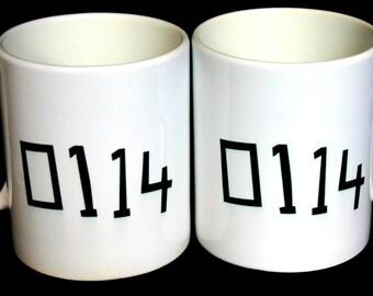 Sheffield Mug - 0114 Mug - 0114 Sheffield Area Code Mug - Sheffield Telephone Code Mug