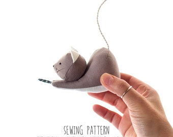 Cat Sewing Pattern & Tutorial, Diy Pattern, Plush Toy Pattern, PDF INSTANT DOWNLOAD, Sewing Diy, Instructions for Sewing, Stuffed Kitten