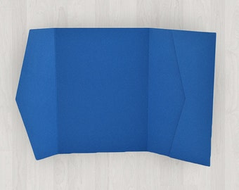 10 Horizontal Pocket Enclosures - Blue - DIY Invitations - Invitation Enclosures for Weddings and Other Events