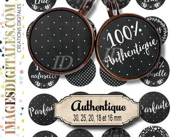 REAL   Digital Collage Sheet Printable Instant Download for art jewelry scrapbooking bottle caps magnets pins