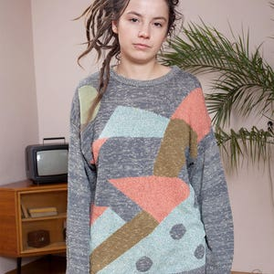 Wool pullover•90s Hipster sweater•Cosby sweater•Vintage winter sweater•Vintage jumper•90s clothing•90s sweater•Vintage clothing•Vintage knit